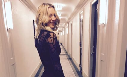 Kaley Cuoco Kisses Karl Cook, Flips Ex-Husband the Bird