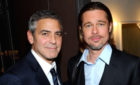 Brad Pitt and George Clooney Friends Photo