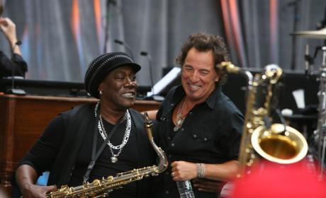 Clarence Clemons and Bruce Springsteen