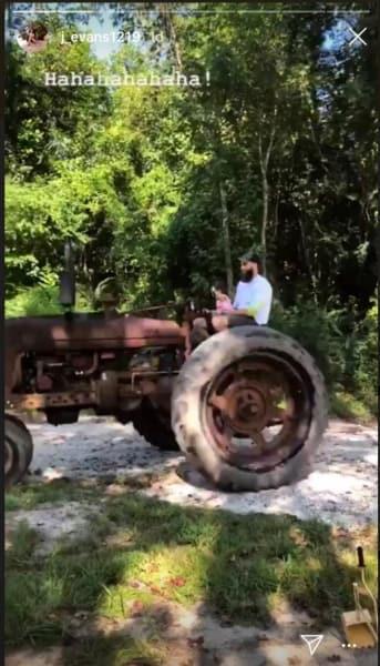 David Eason on a Tractor
