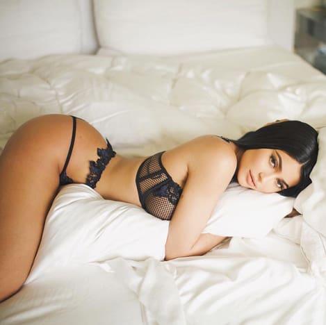 Kylie Jenner: Semi-Nude Lip Kit Ad