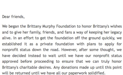 Fake Brittany Murphy Charity Shut Down