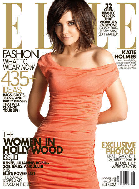 Katie Holmes Elle Cover