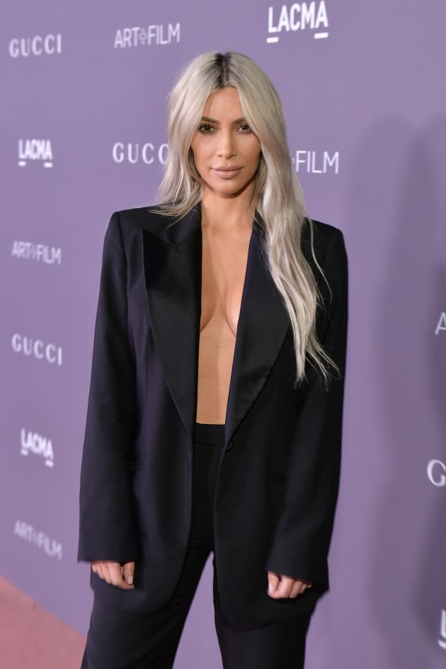 Kim Kardashian, No Bra at All