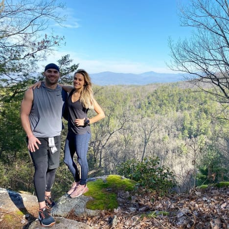 Mike Caussin and Jana Kramer Enjoy the View