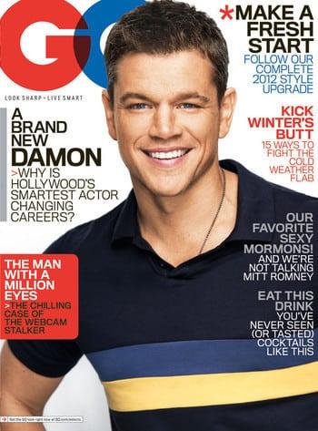 Matt Damon in GQ