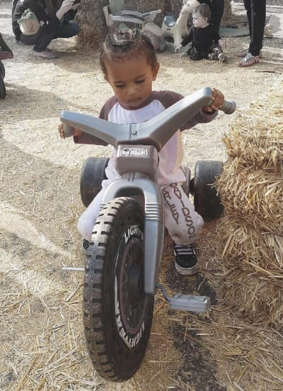 North West on a Fake Harley
