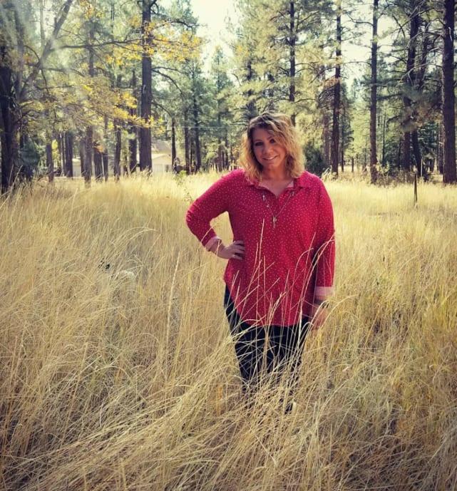 Meri brown in the weeds