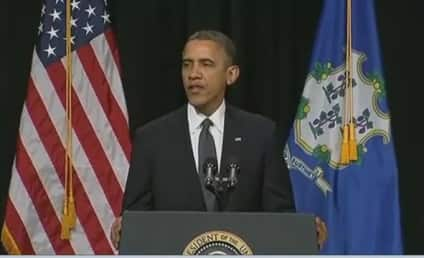 "Obama Newtown Speech: President Grieves, Asks ""Hard Questions"" at Vigil"