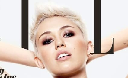 Miley Cyrus Covers Elle, Exposes Chest