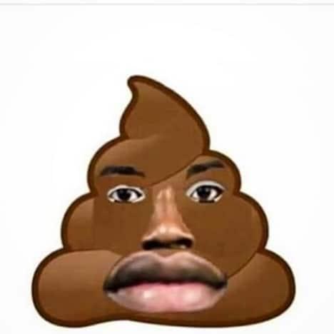 50 Cent Instagram post - poop emoji merged with Meek Mill's face