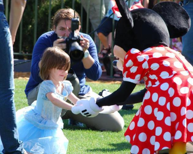 Suri Cruise and Minnie Mouse