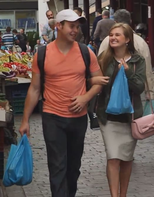 Joseph duggar and kendra caldwell on their honeymoon
