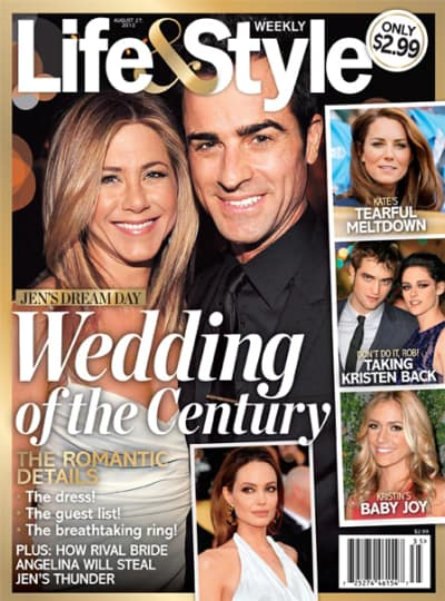 Jennifer Aniston And Justin Theroux Wedding.Jennifer Aniston And Justin Theroux Wedding Of The Century Ahead