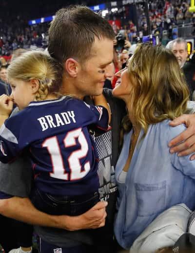 Gisele Bundchen Kisses Tom Brady