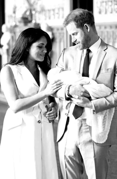 Meghan Markle and Prince Harry And Little Archie