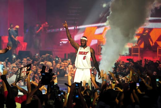 LeBron James Pep Rally Pic