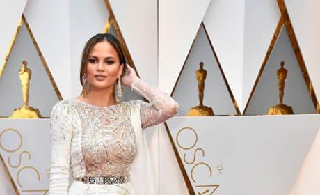 Chrissy Teigen at 2017 Oscars