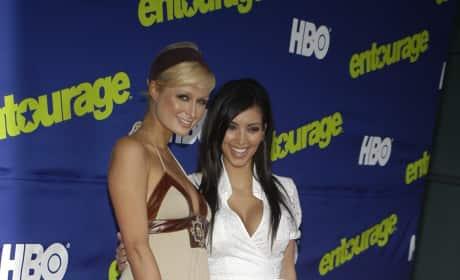 Kim Kardashian and Paris Hilton: 'Entourage' Season Six Premiere