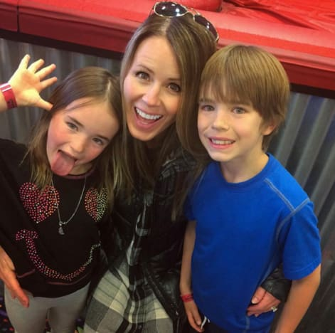 Trista Sutter with Kids