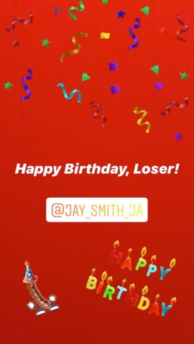 Ashley martson to jay smith happy birthday loser