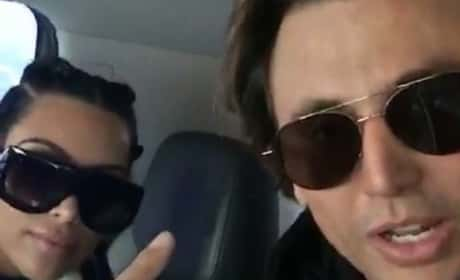 Jonathan Cheban Introduces Kim to Snapchat