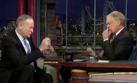 David Letterman and Bill O'Reilly Fight!