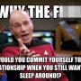 Patrick Stewart Cheating Meme Photo