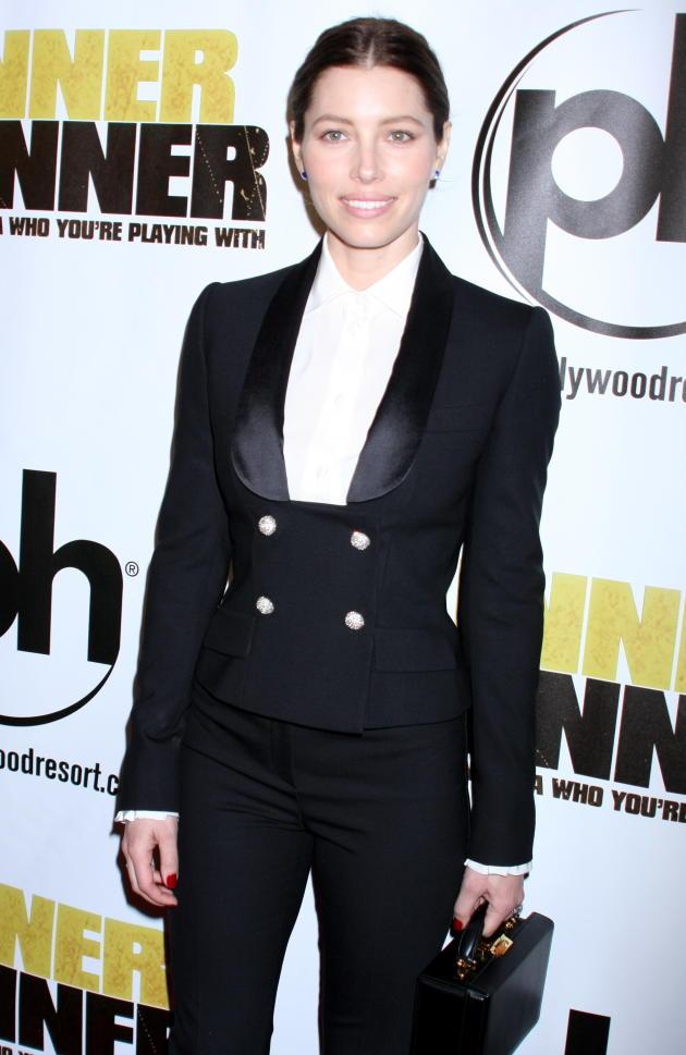 Jessica Biel in a Tux