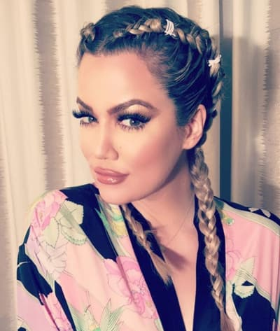 Khloe Kardashian Rocks Some Braids