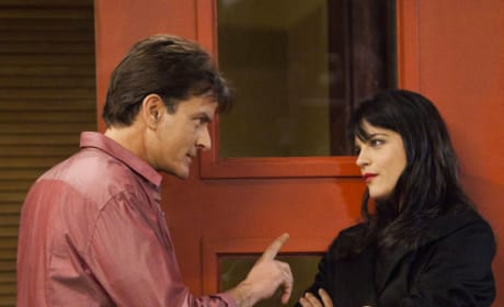 Selma Blair and Charlie Sheen