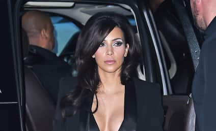 Kim Kardashian Dines in NYC, Exposes MAJOR Cleavage