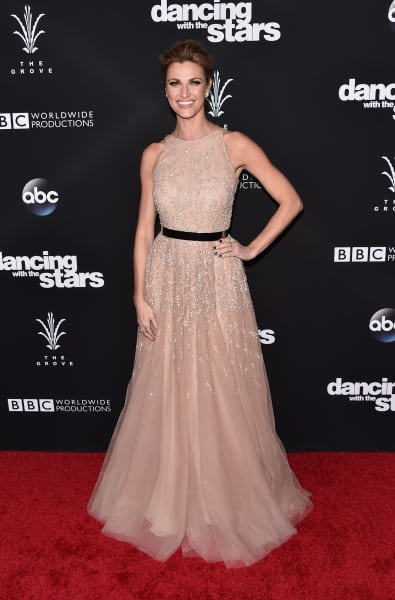 Erin Andrews Celebrates DWTS