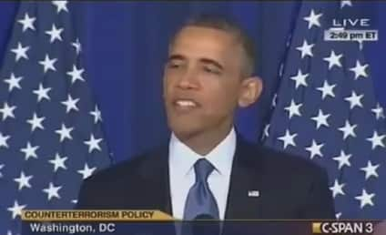 President Obama: Heckled During Speech on Drones, Guantanamo Bay!