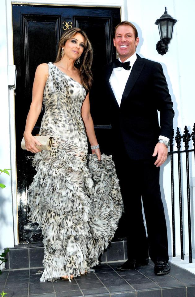 Elizabeth Hurley and Shane Warne