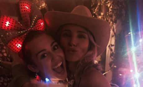Elsa Pataky and Miley Cyrus