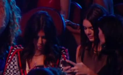 Kim Kardashian, Kendall & Kylie Jenner: Bored, Texting During VMA Ferguson Tribute?