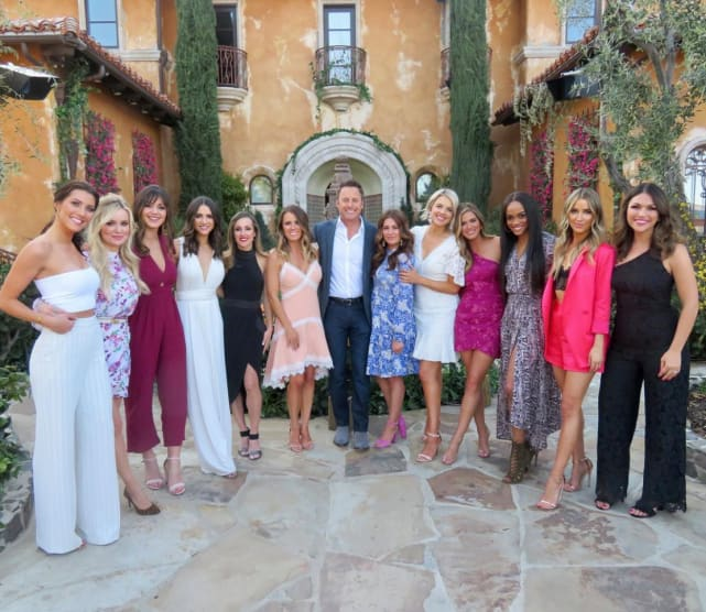 Chris harrison and the bachelorettes