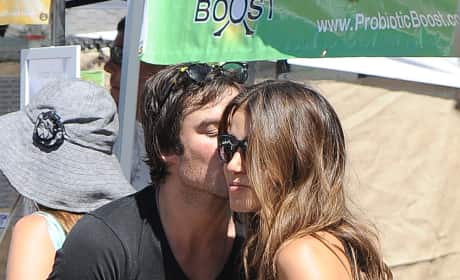 Ian Somerhalder Kisses Nikki Reed