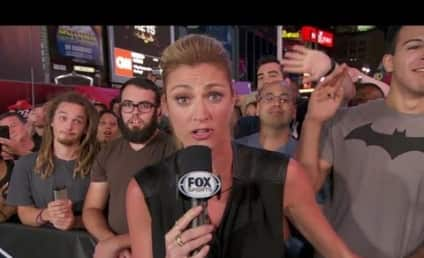 Erin Andrews: Photobombed By Spaced-Out, Hilarious Bearded Dude!