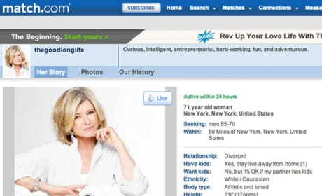 Would you date Martha Stewart?