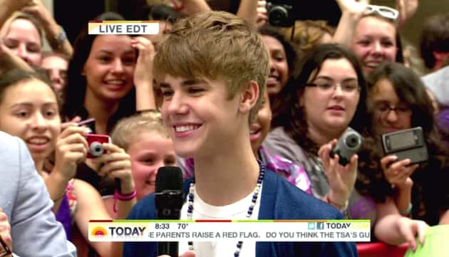 Justin Bieber on The Today Show