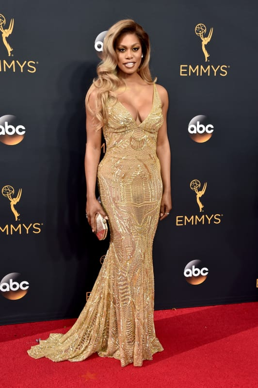 Laverne Cox at the 2016 Emmys