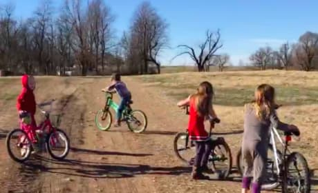 Duggar Kids on Bikes