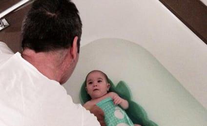Simon Cowell Baby Photo: Bath Time For Eric!