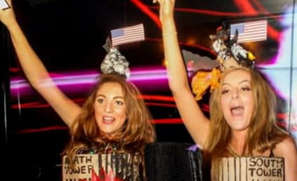 British Girls Dress as Burning Twin Towers for Halloween, Win Best Dressed Award