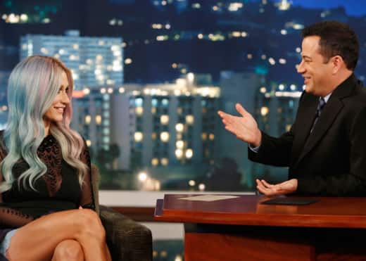 Ke$ha and Jimmy Kimmel