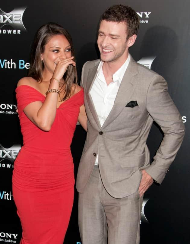 Justin Timberlake and Mila Kunis Photo