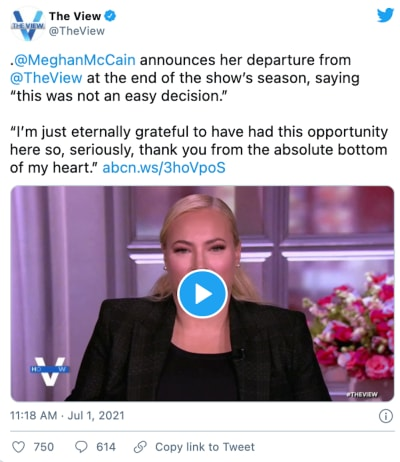 meghan on the view