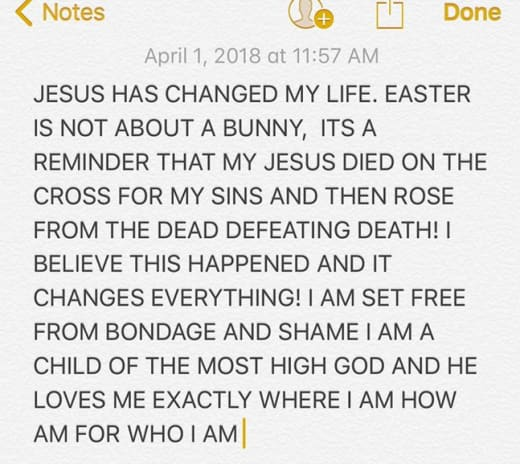 Justin Bieber Easter Message 2018